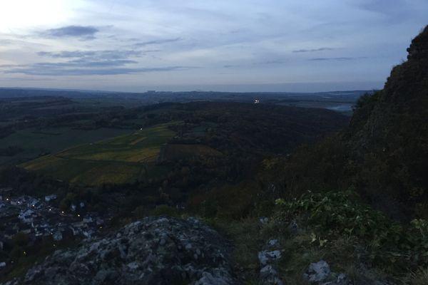 Die Voreifel vom Felsen der Landskrone, Bad Neuenahr