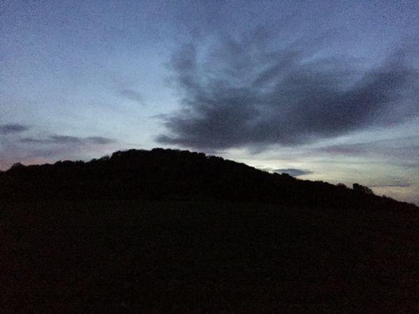 Die Landskrone im Sonnenuntergang