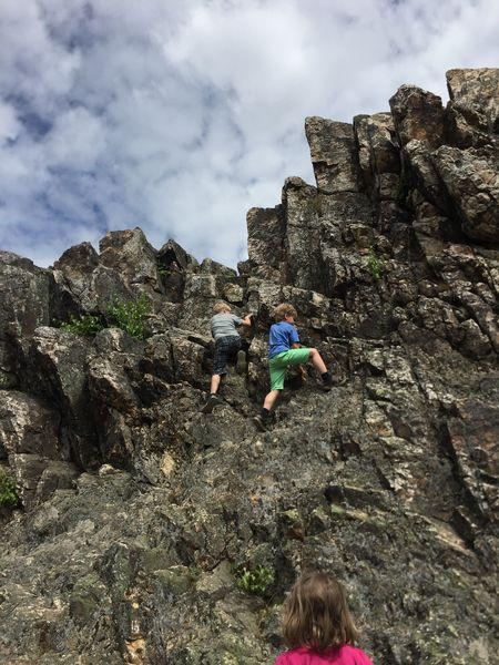 Wandern mit Kindern, Klettern mit Kindern, Eschbacher Klippen, Taunus, was ist wandern