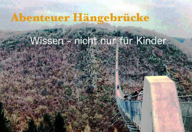 Blick auf die Hängeseilbrücke Geierlay bei Mörsdorf im Hunsrück Abenteuer Hängebrücke