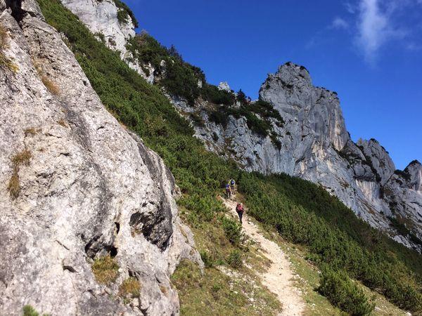 Südseite der Kampenwand, Blick auf Ostgrat, Wandern an der Kampenwand