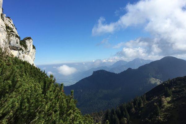 Wandern an der Kampenwand, Ausblick im Osten