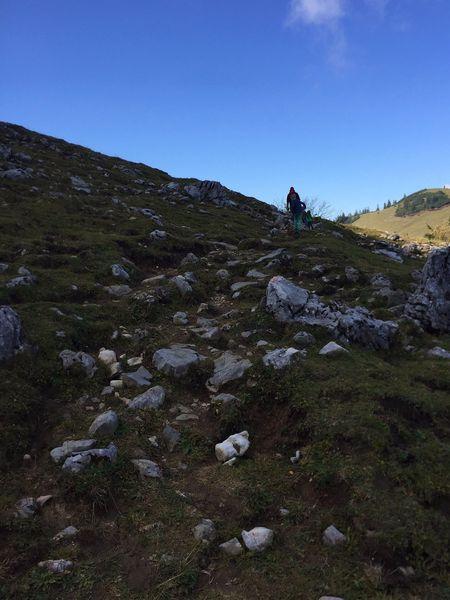 Geröllfeld, Wandern an der Kampenwand