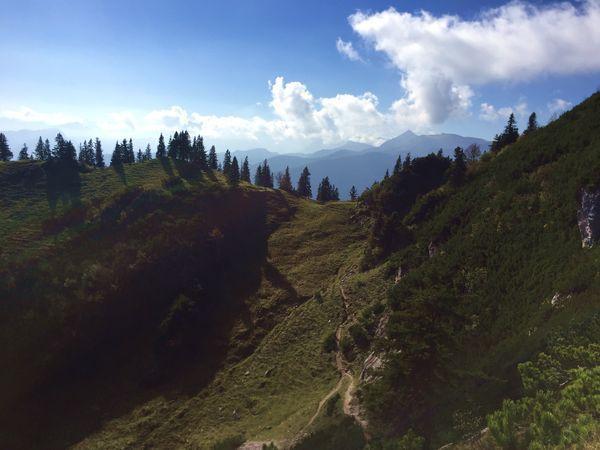 Wandern an der Kampenwand, Südhang