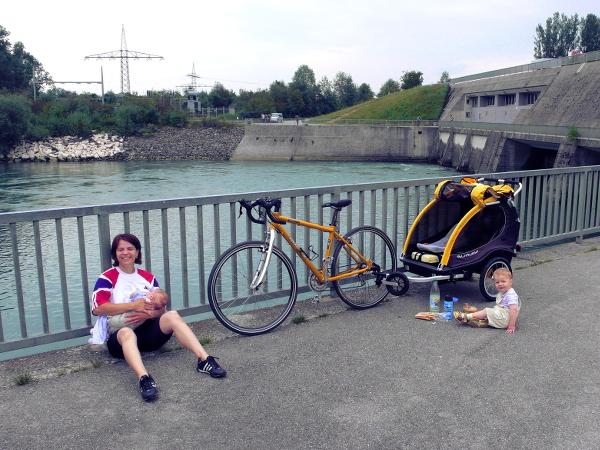Radtour, Radreise mit Kindern, Pause