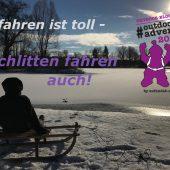 Schlitten fahren, outdooradvent 2017, Adventskalender